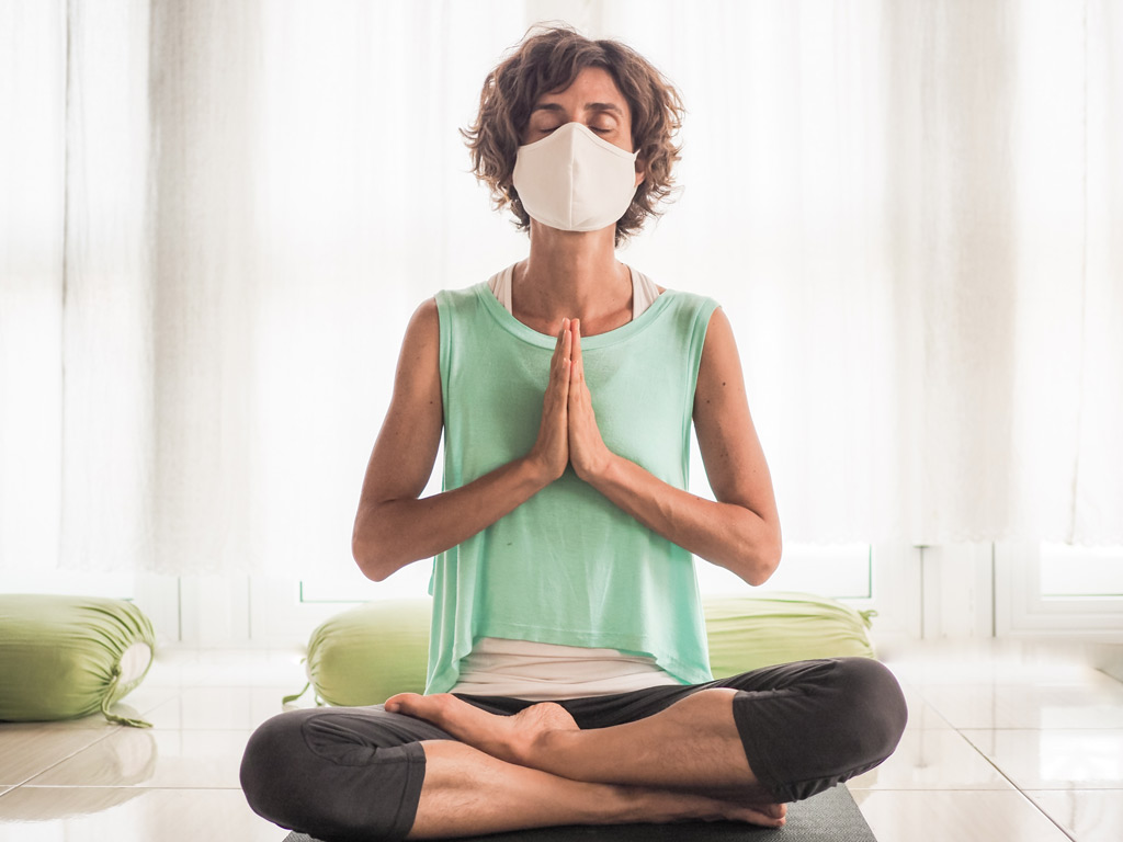yoga to relieve mask anxiety